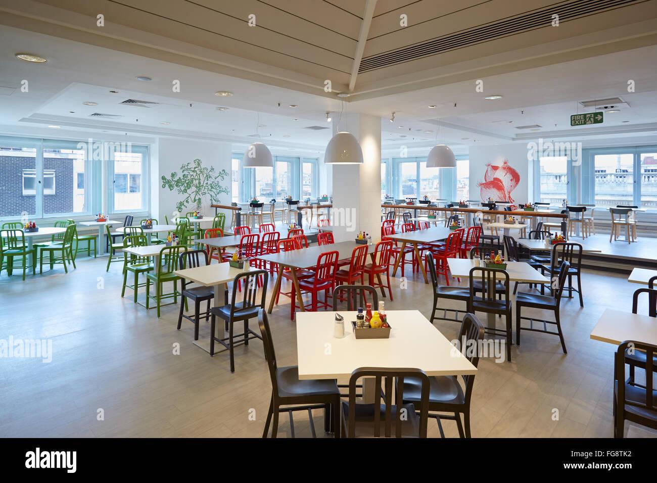 Selfridges department store restaurant interior in london