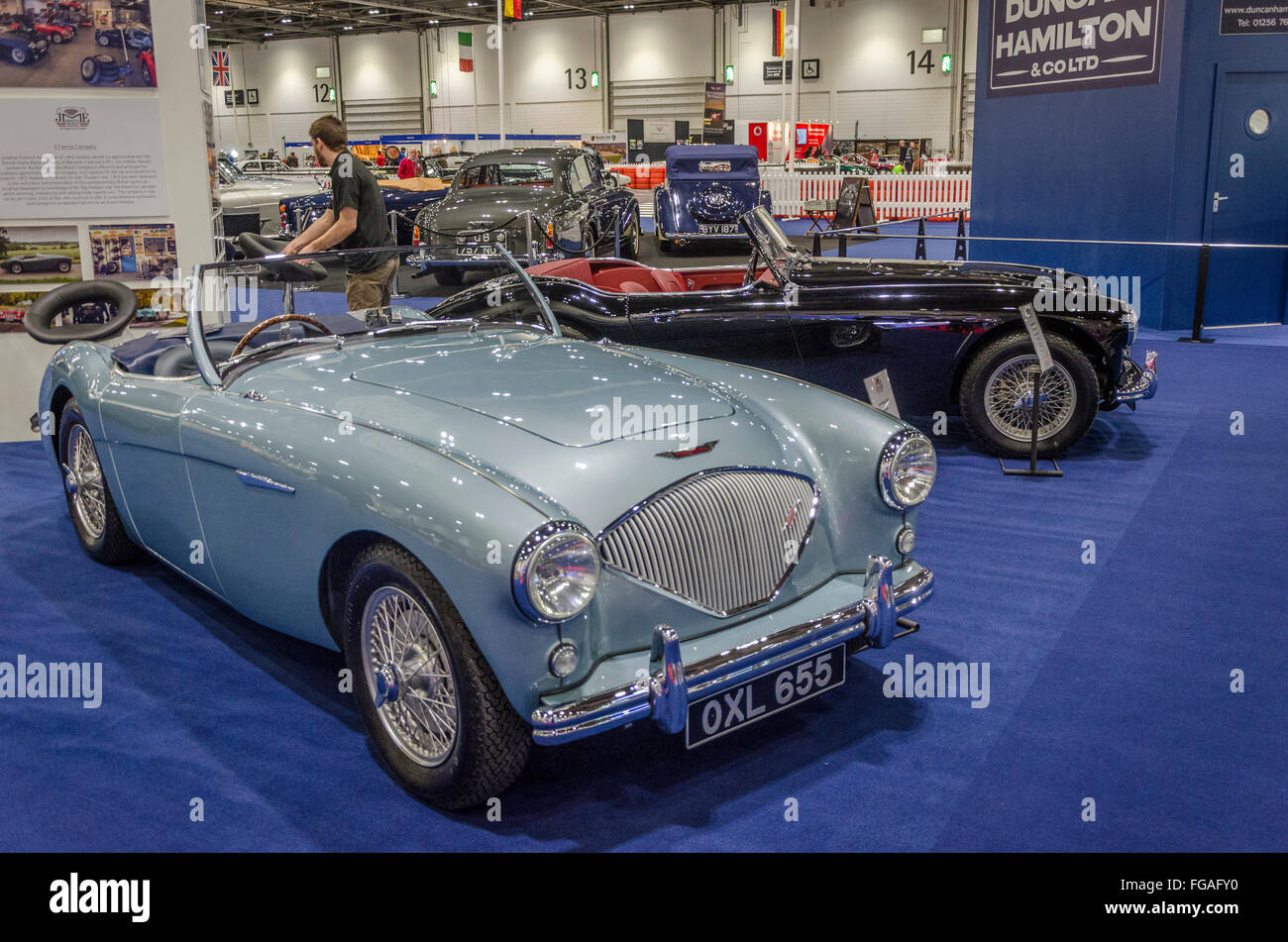 London, UK. 18 February 2016 Classic car at the show. This is a car ...