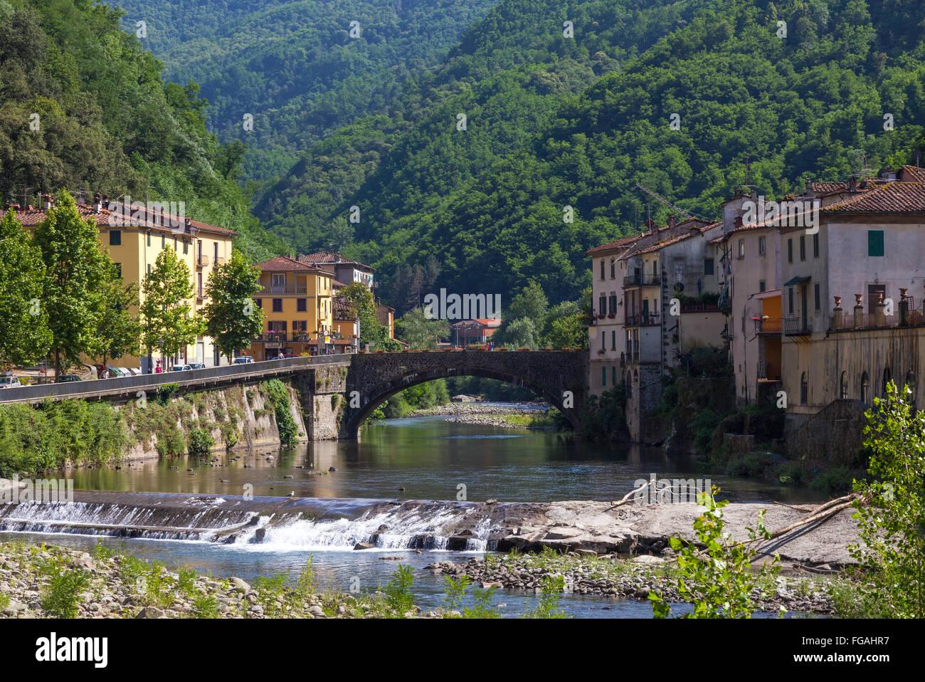 River through bagni di lucca italy stock photo 96119835 alamy - Bagni di lucca ...