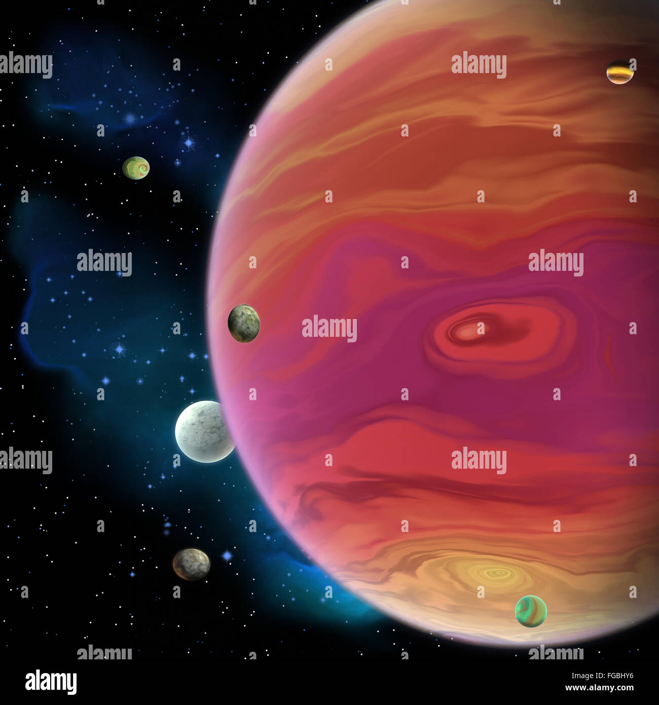Jupiter is the largest gas giant planet in our solar ...
