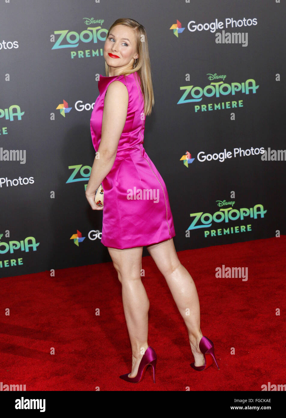 Kristen Bell At The Los Angeles Premiere Of Zootopia