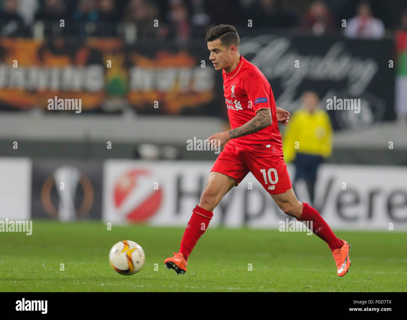 Augsburg Germany 18th February 2016 Philippe COUTINHO LIV 10