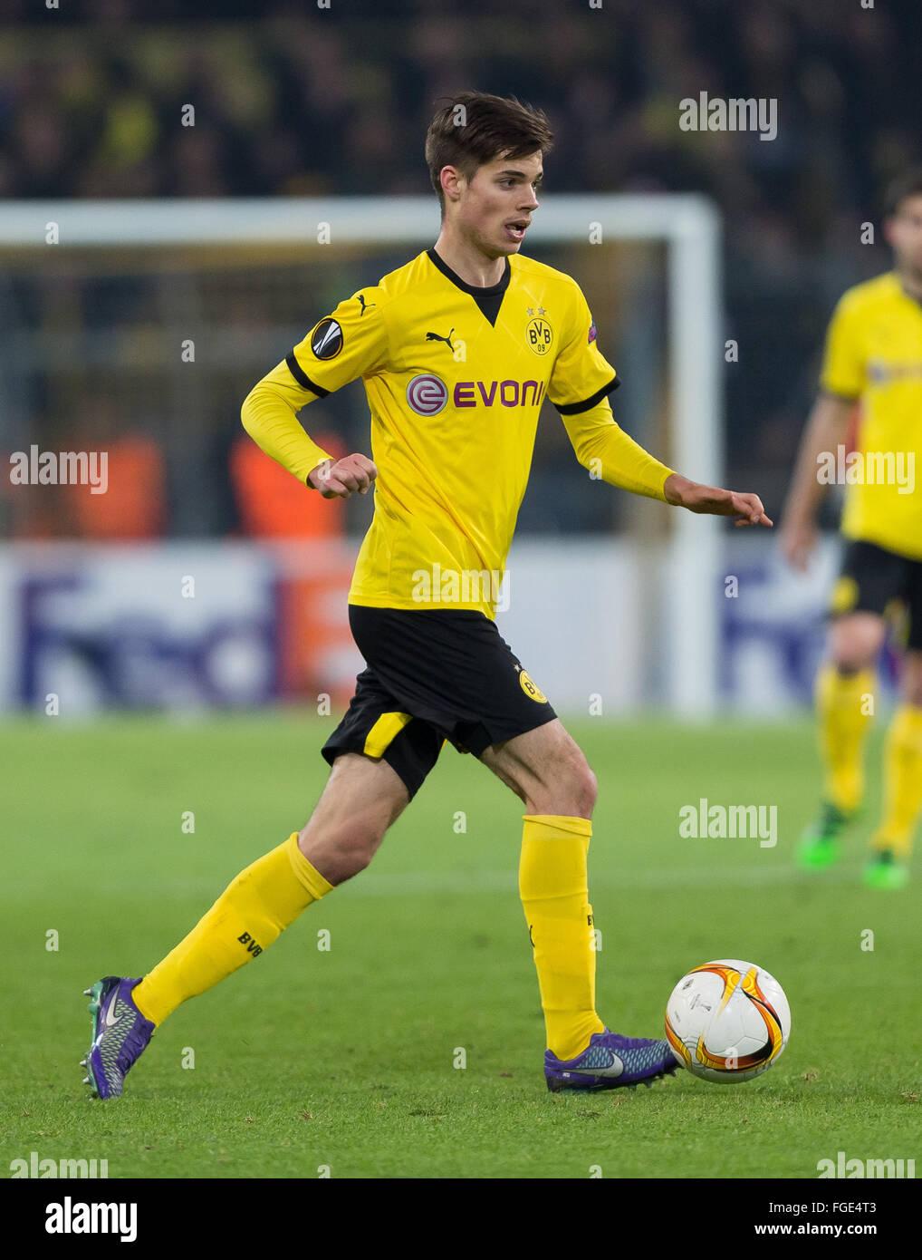 Dortmund Germany 18th Feb 2016 Dortmund s Julian Weigl in