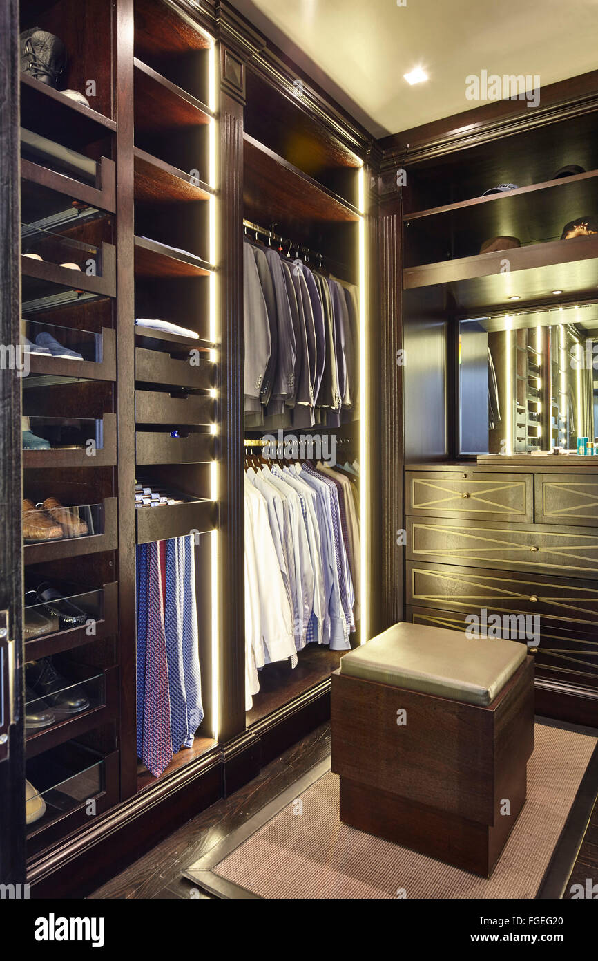 Walk in cupboard closet for men 39 s clothes storage tudor - Mens walk in closet ...