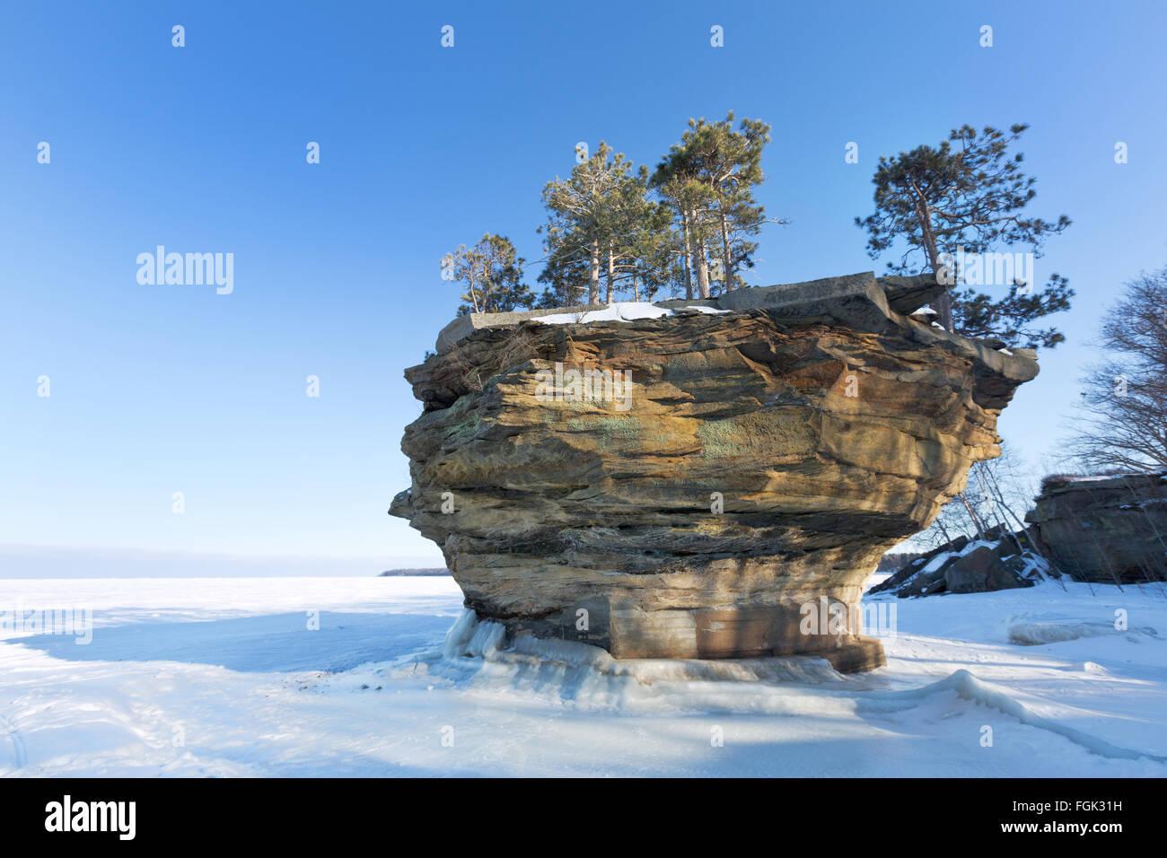 Turnip rock on lake huron in winter port austin michigan stock turnip rock on lake huron in winter port austin michigan sciox Gallery