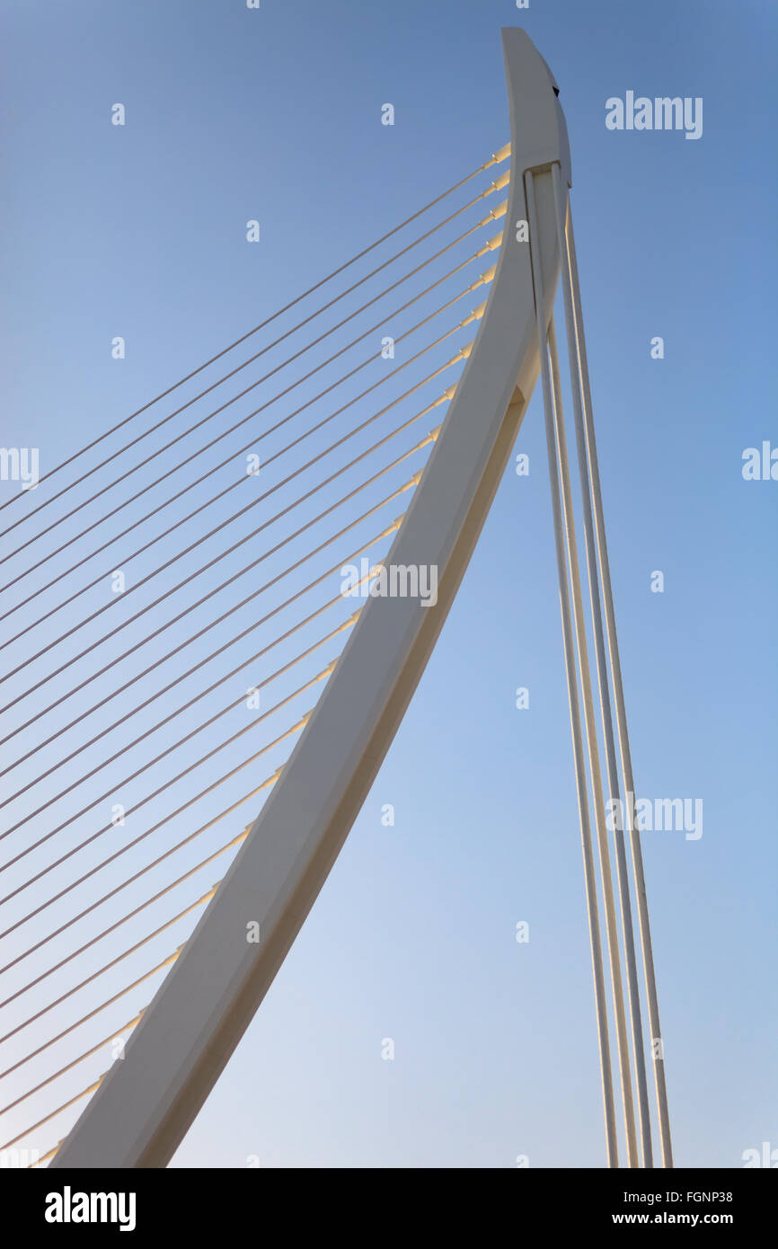 Modern Architecture Detail abstract modern architectural detail of bracing wire structure
