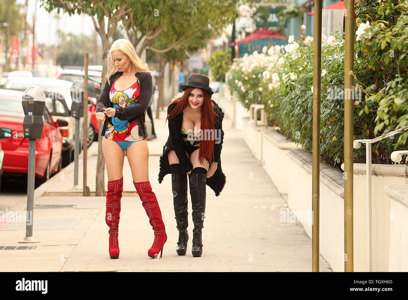 Phoebe Price And Ana Braga Street Sighting In Studio City