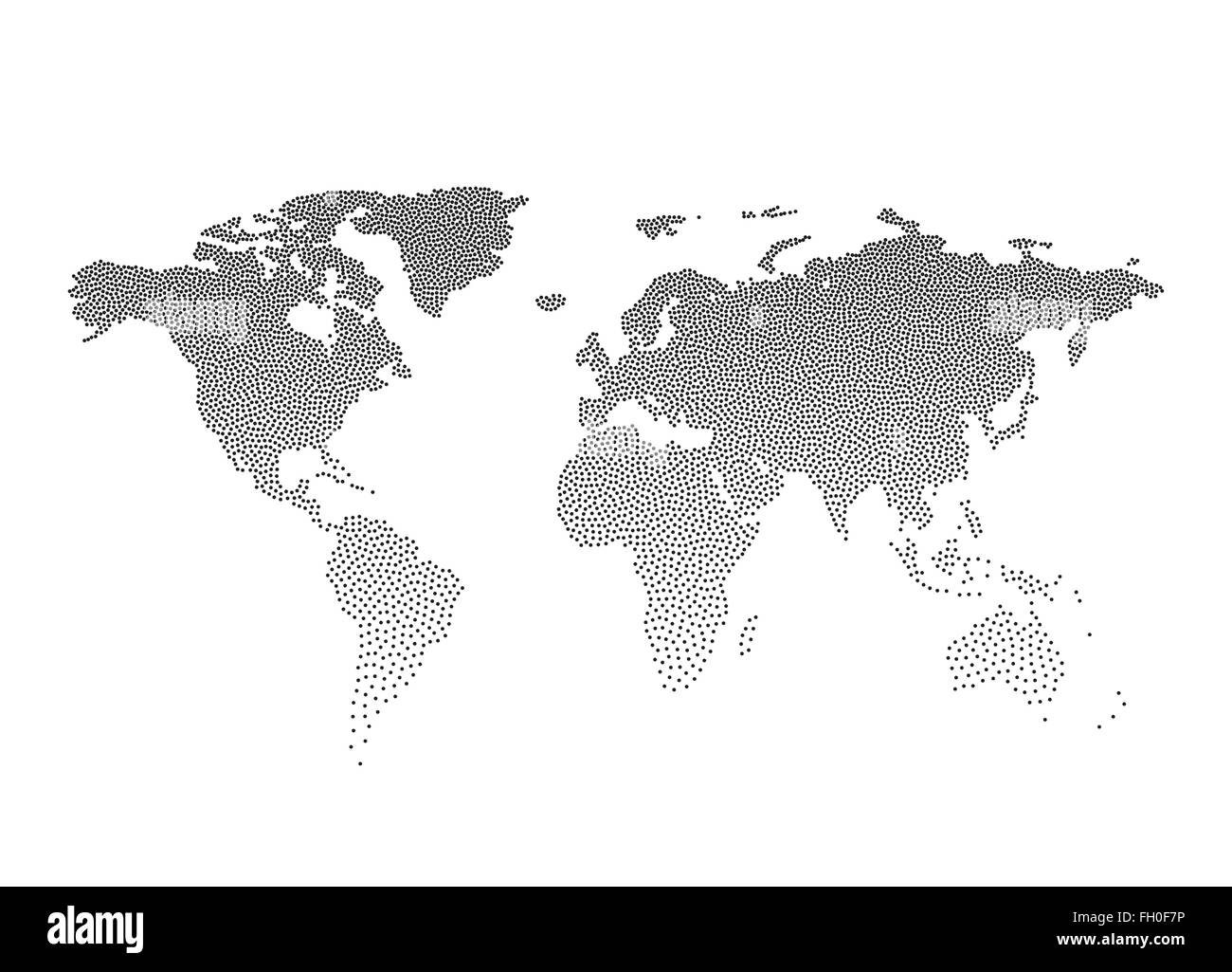Black dotted world map vector illustration stock vector art black dotted world map vector illustration gumiabroncs Image collections