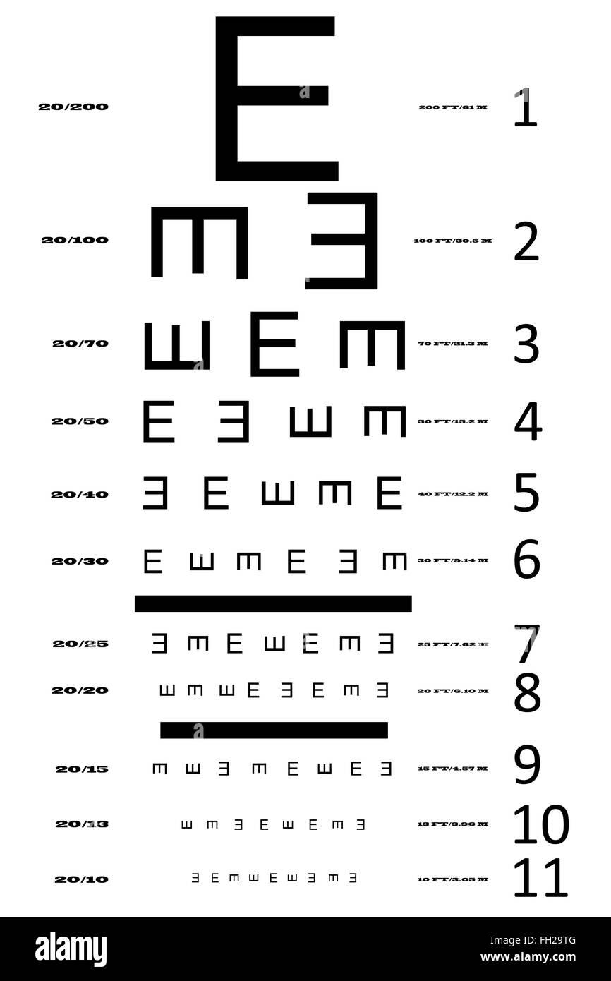 An eye sight test chart stock photo royalty free image 96552640 an eye sight test chart nvjuhfo Images