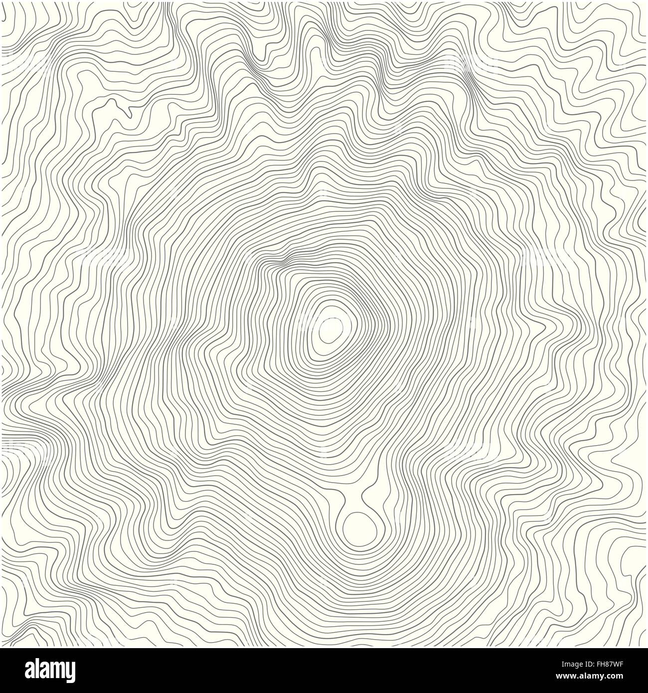 Contour Line Drawing Geography : Detailed topographic map with contour lines of a mountain