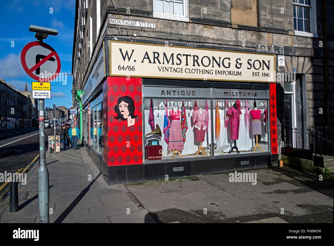 Vintage clothing stores in edinburgh