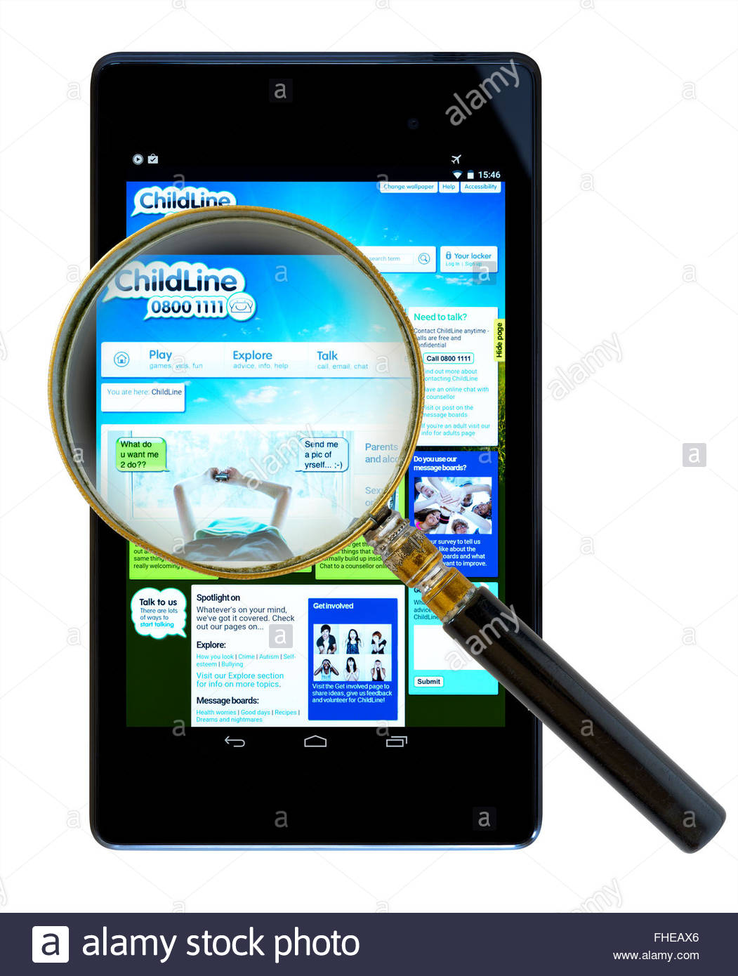 Nspcc 39 s childline service app on an android tablet pc for App tablet android gratis