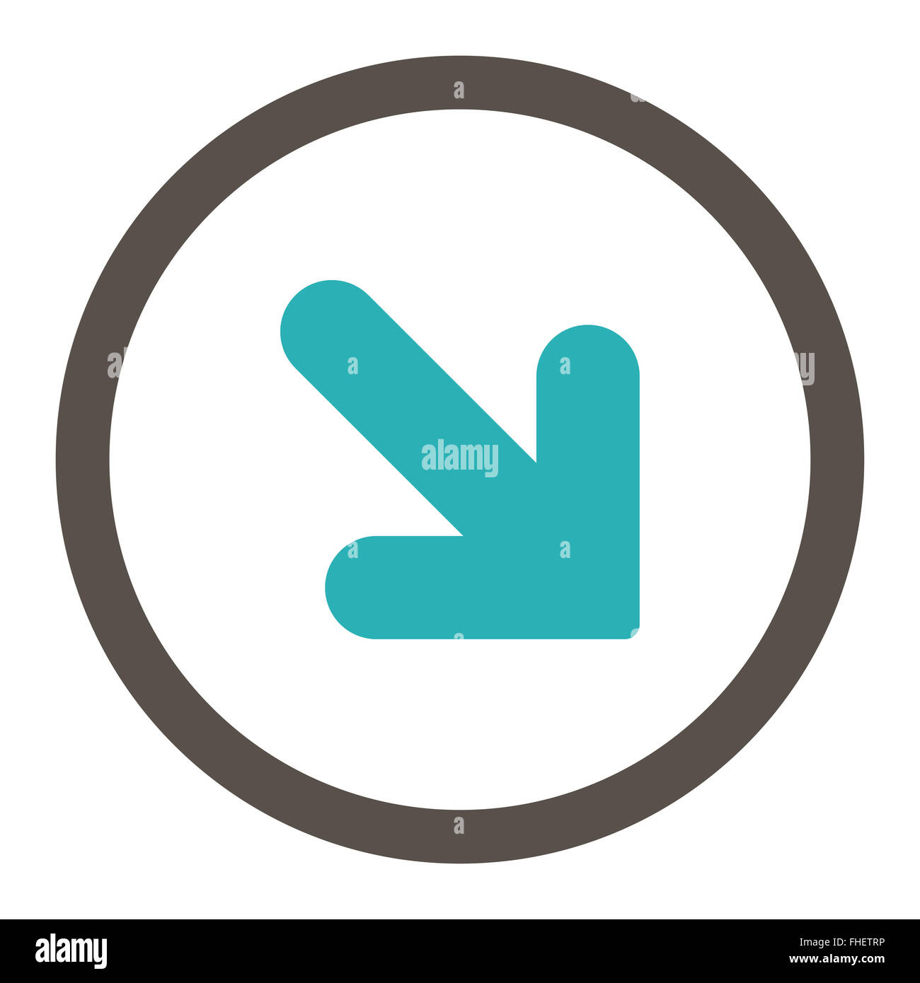 Arrow down right flat grey and cyan colors rounded vector icon arrow down right flat grey and cyan colors rounded vector icon biocorpaavc Choice Image