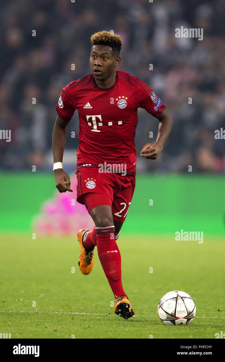 David Alaba Bayern FEBRUARY 23 2016 Football Soccer UEFA