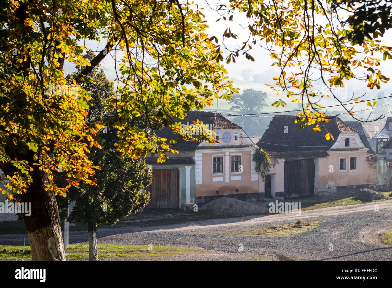 Traditional saxon village houses from crit transylvania romania stock photo royalty free - Saxon style houses in transylvania ...