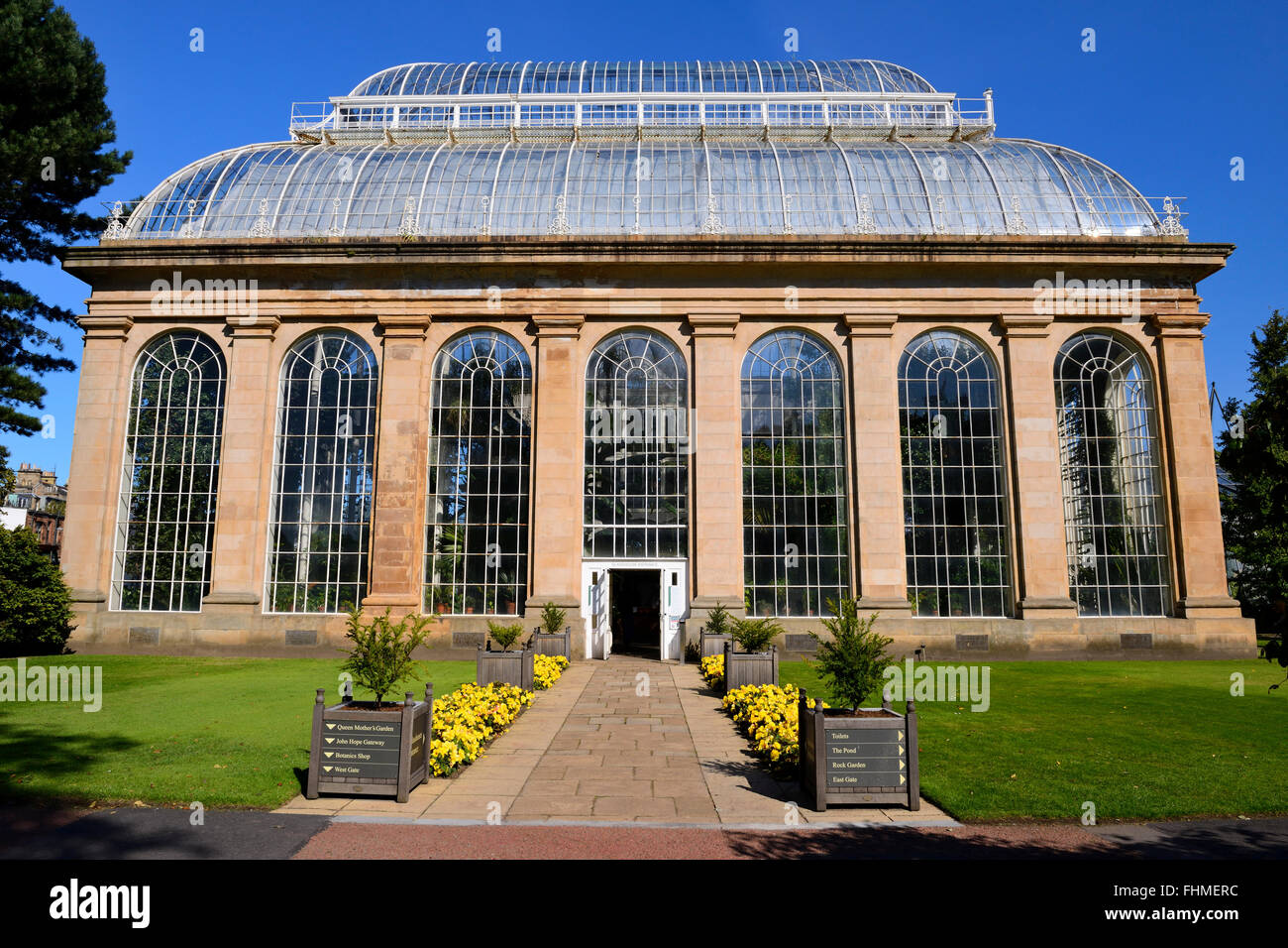 Palm House And Glasshouse, Royal Botanic Garden, Edinburgh, Scotland, UK