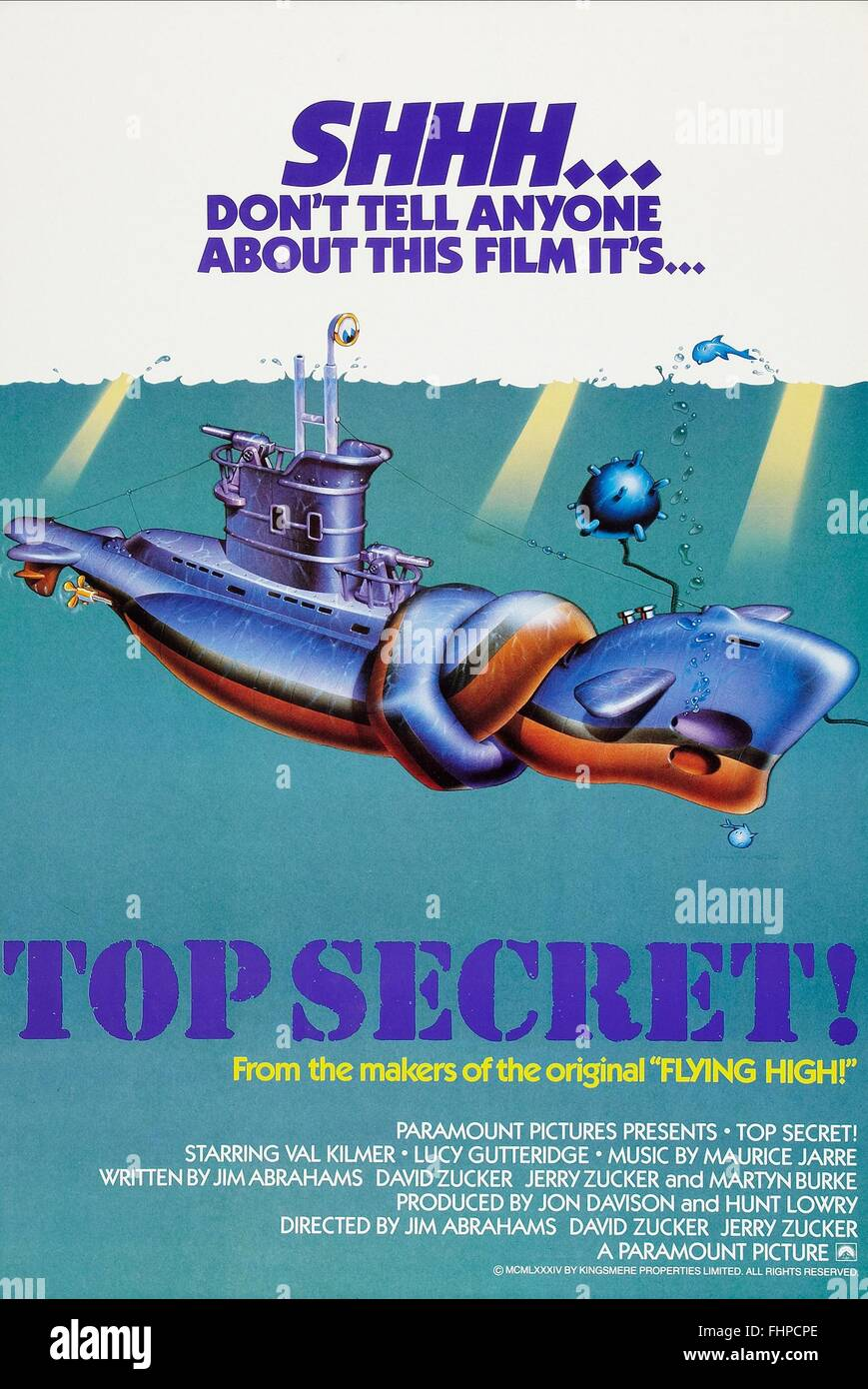 movie poster top secret 1984 stock photo royalty free