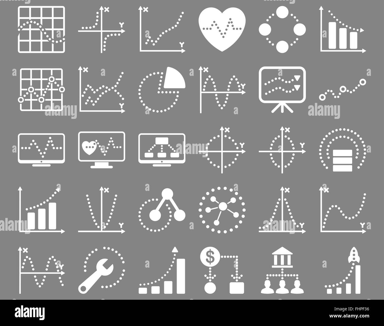 Dotted charts icons stock photo 96995786 alamy dotted charts icons geenschuldenfo Gallery