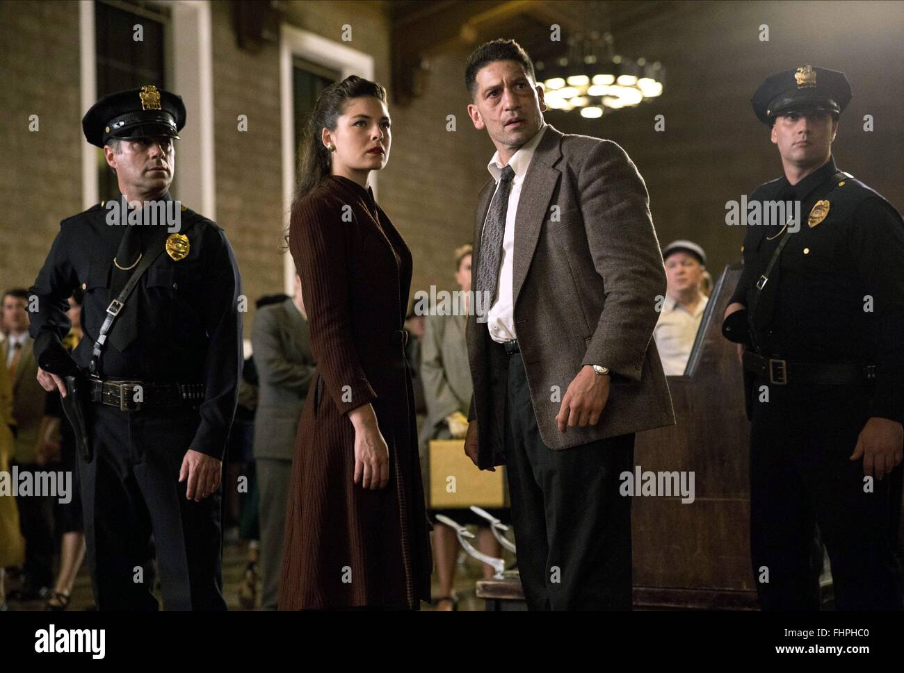 Alexa Davalos Mob City: ALEXA DAVALOS & JON BERNTHAL MOB CITY (2013 Stock Photo