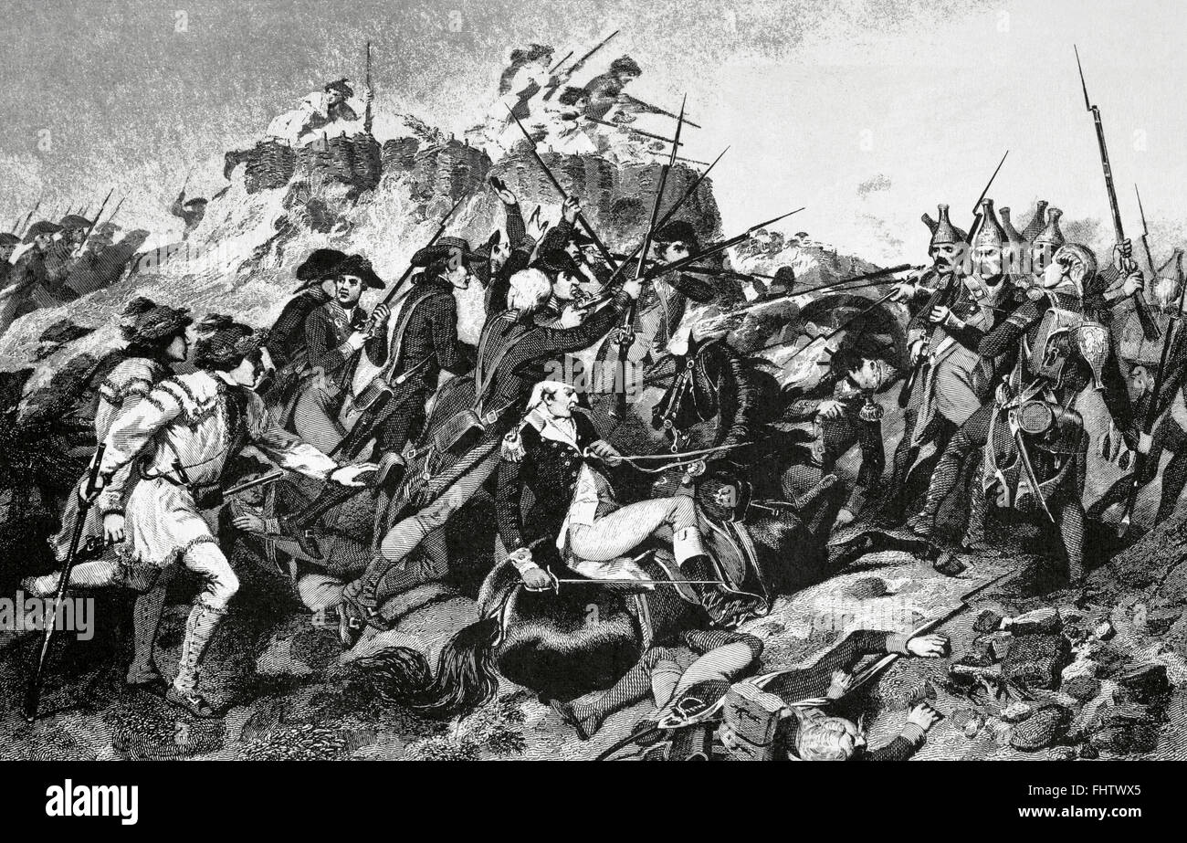 American Revolutionary War (1775-1783). Battles of Saratoga (1777 ...