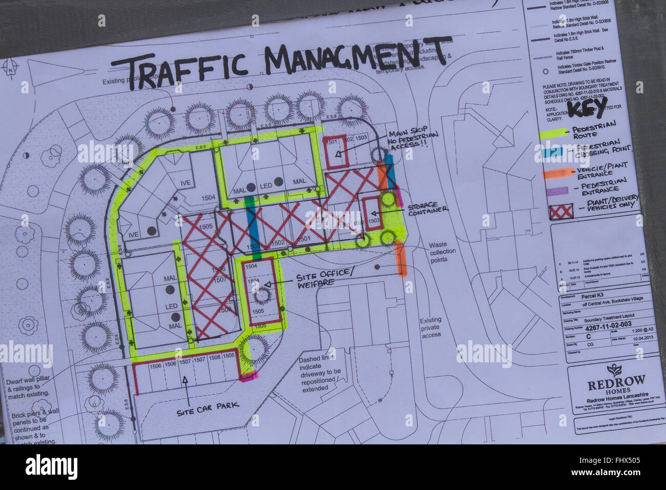 Mis Spelt Traffic Management Safety Site Plan For Redrow