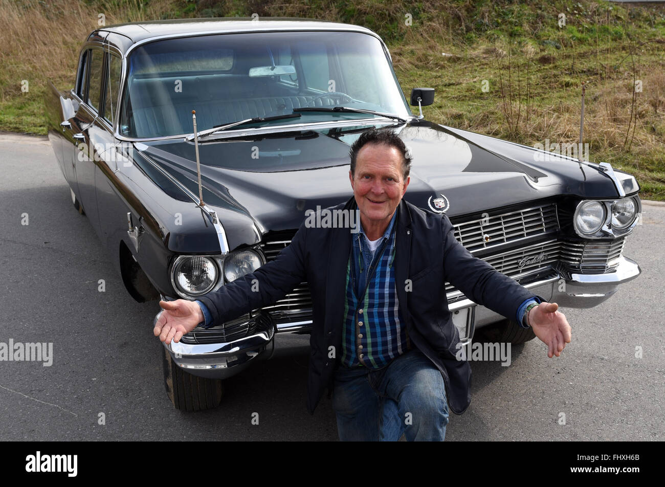 mettmann germany 26th feb 2016 vintage car trader michael stock photo royalty free image. Black Bedroom Furniture Sets. Home Design Ideas