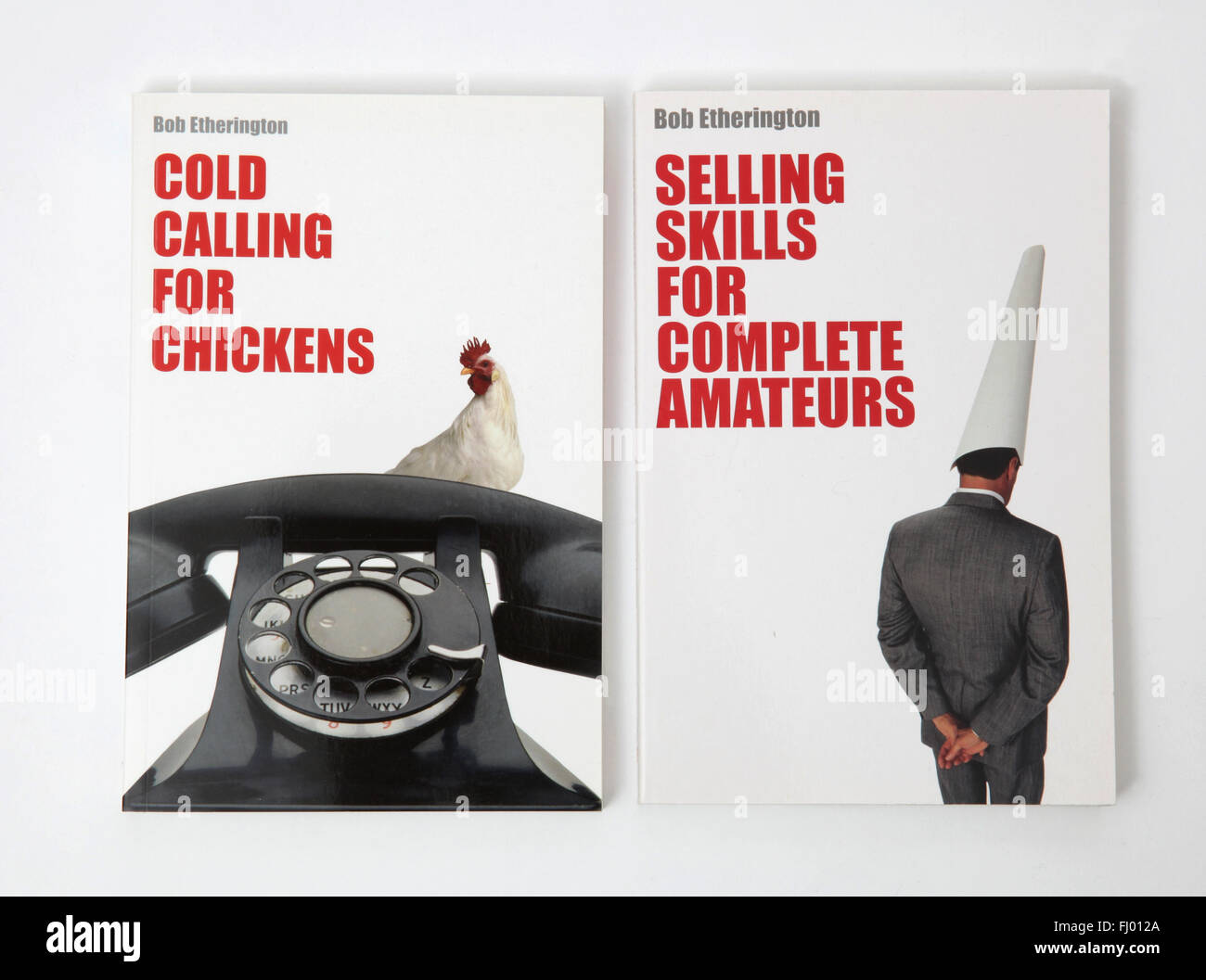 two books cold calling for chickens and selling skills for stock photo two books cold calling for chickens and selling skills for complete amateurs by bob etherington
