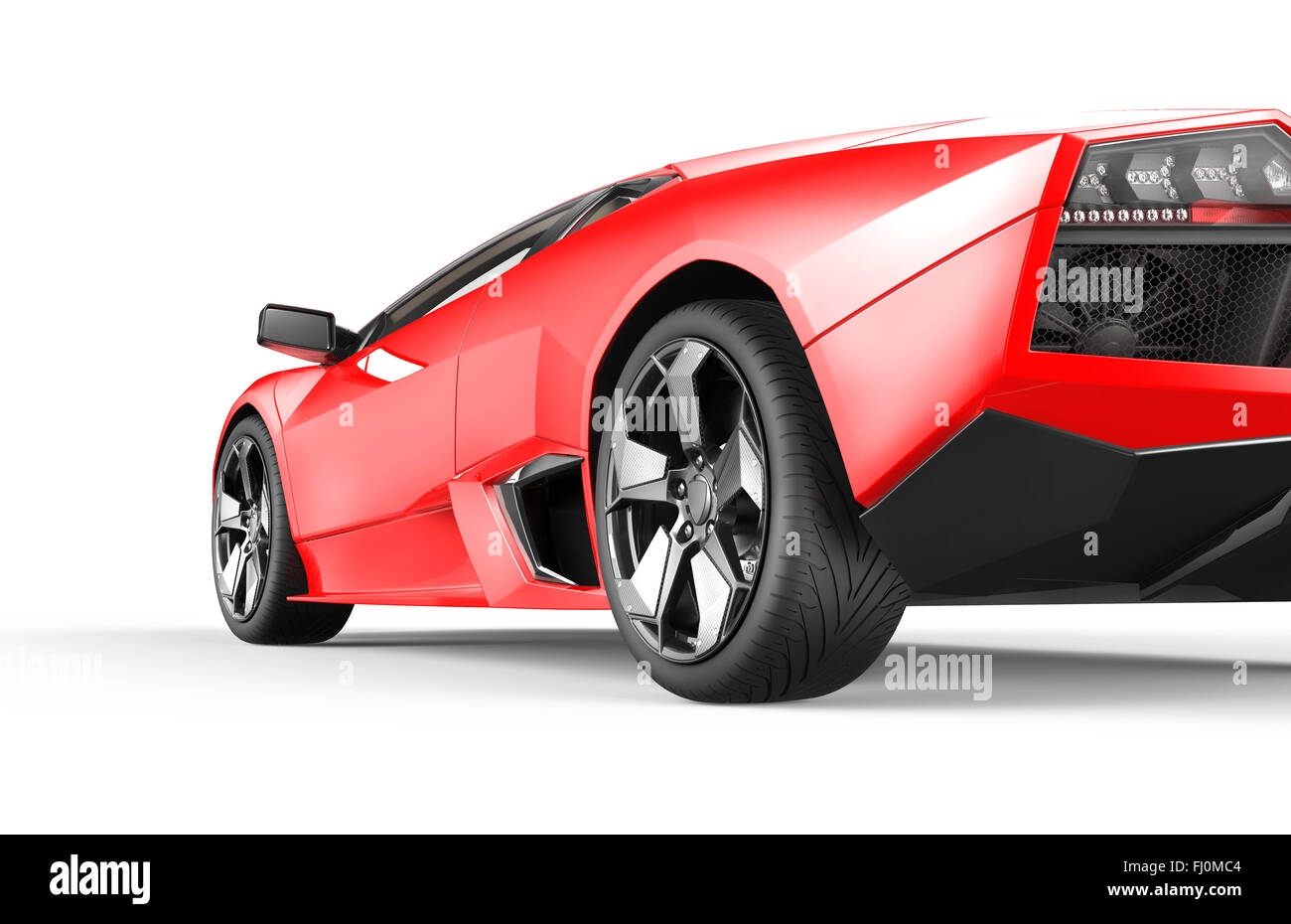 Red Luxury Sport Car Isolated On A White Background  C