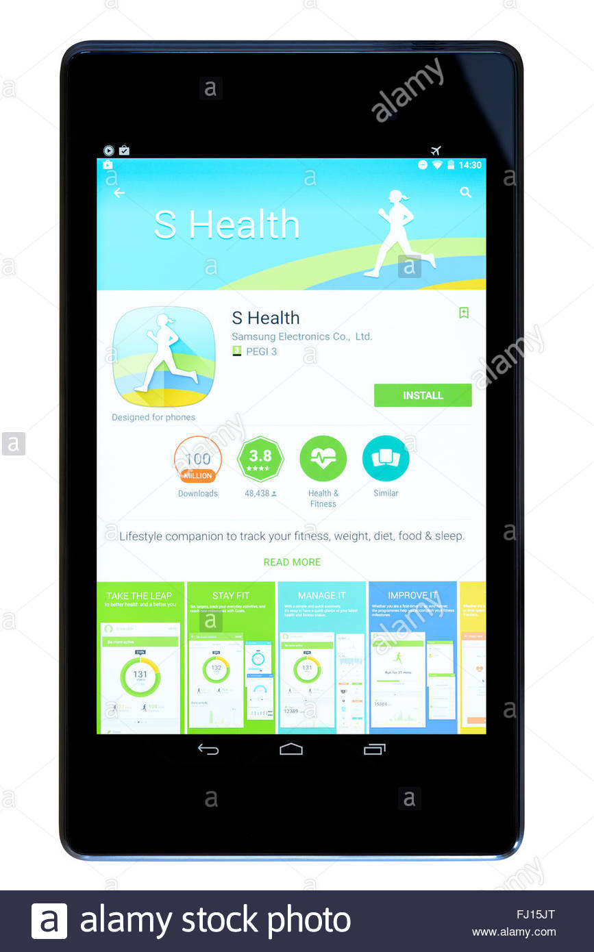 Fitness tracker s health app on an android tablet pc for App tablet android gratis