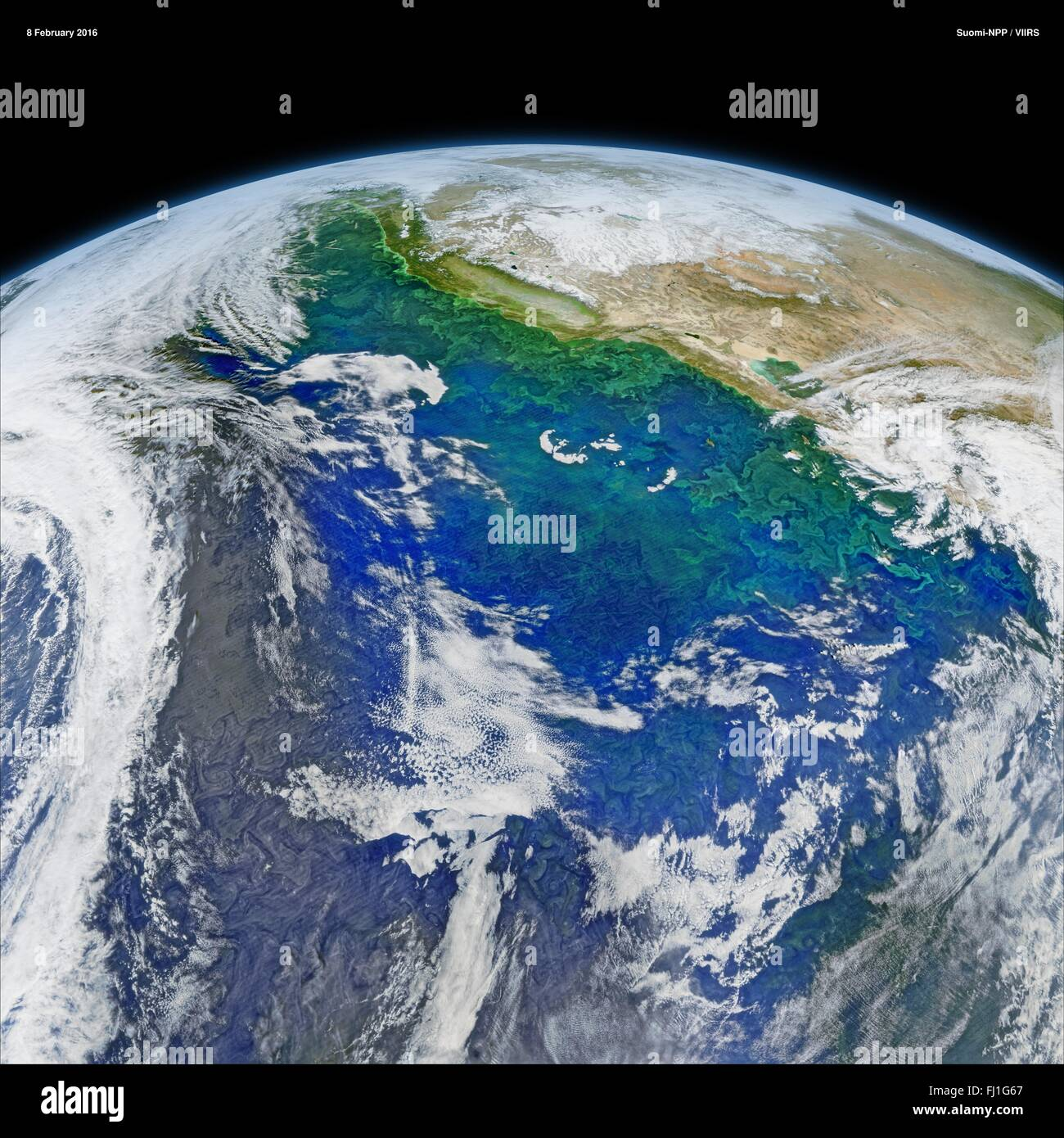 View Of The Pacific Ocean From The VIIRS Satellite Of The - Recent satellite pictures