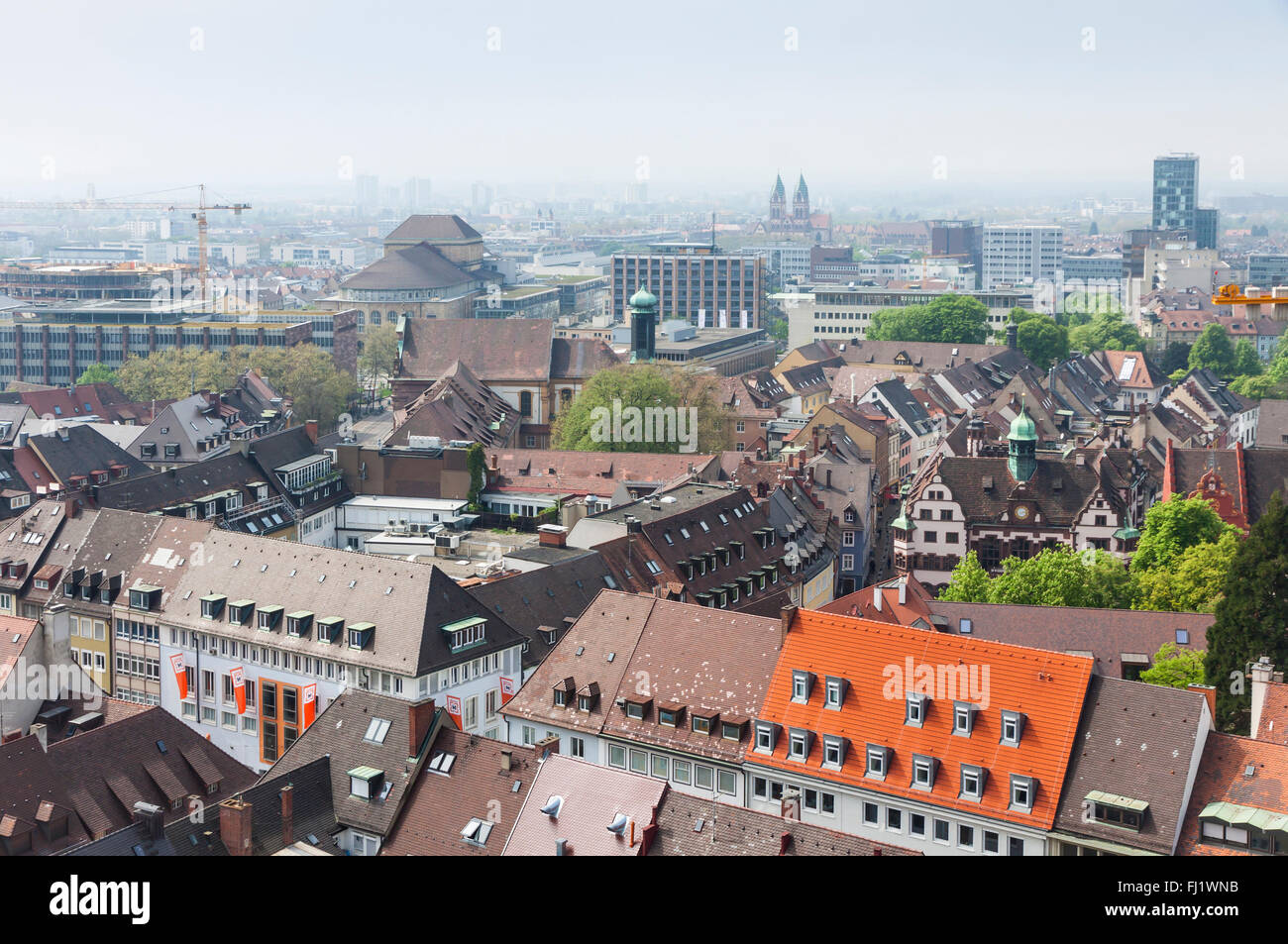skyline of freiburg im breisgau city baden wuerttemberg state stock photo royalty free image. Black Bedroom Furniture Sets. Home Design Ideas