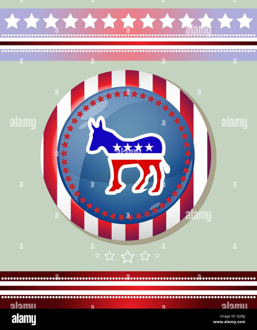 Democratic party social promotion banner donkey symbol badge stock democratic party social promotion banner donkey symbol badge election day campaign ad flyer american flags symbolic elements biocorpaavc Image collections