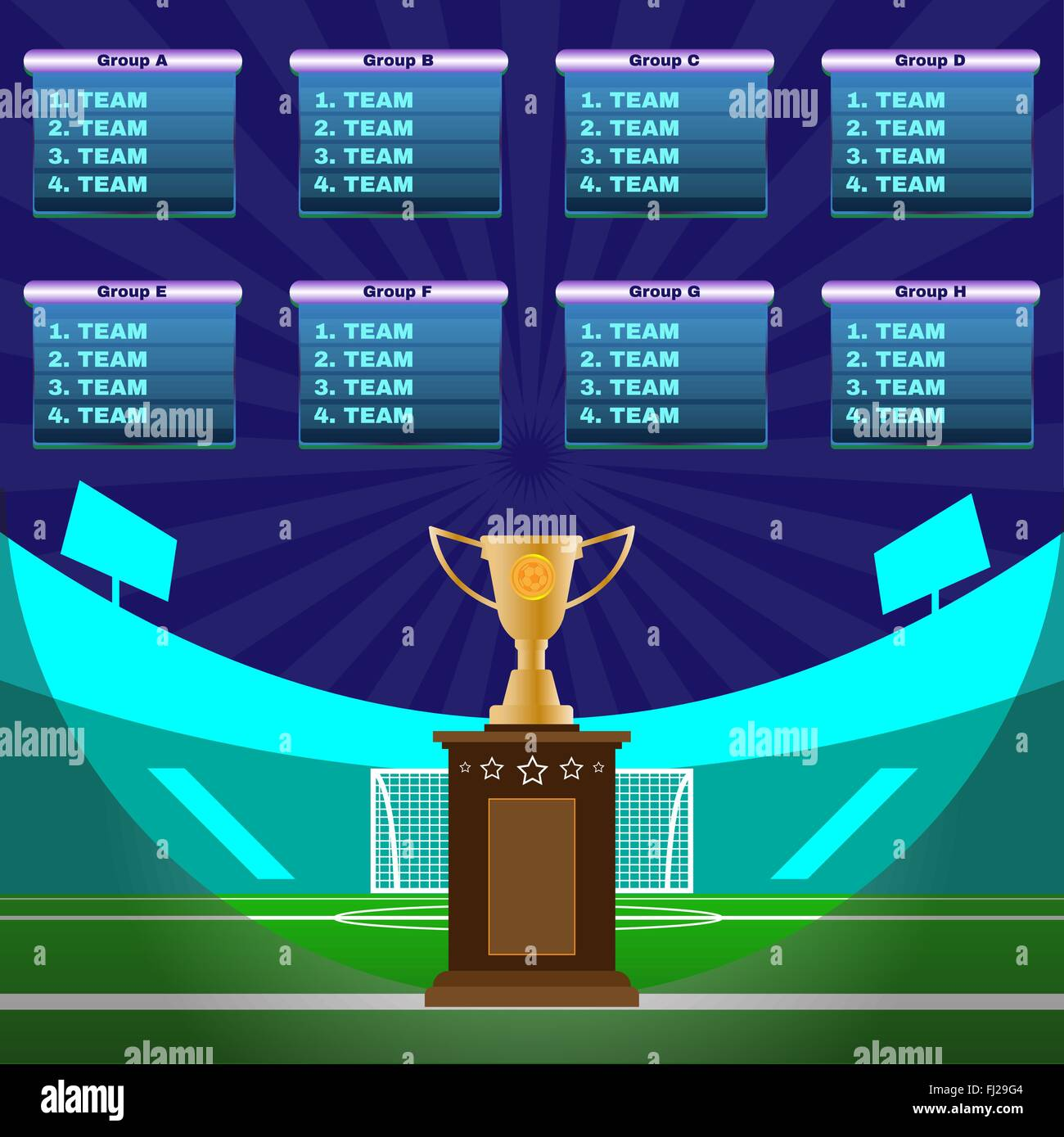 Soccer Champions Scoreboard Template on Dark Backdrop Sports – Scoreboard Template