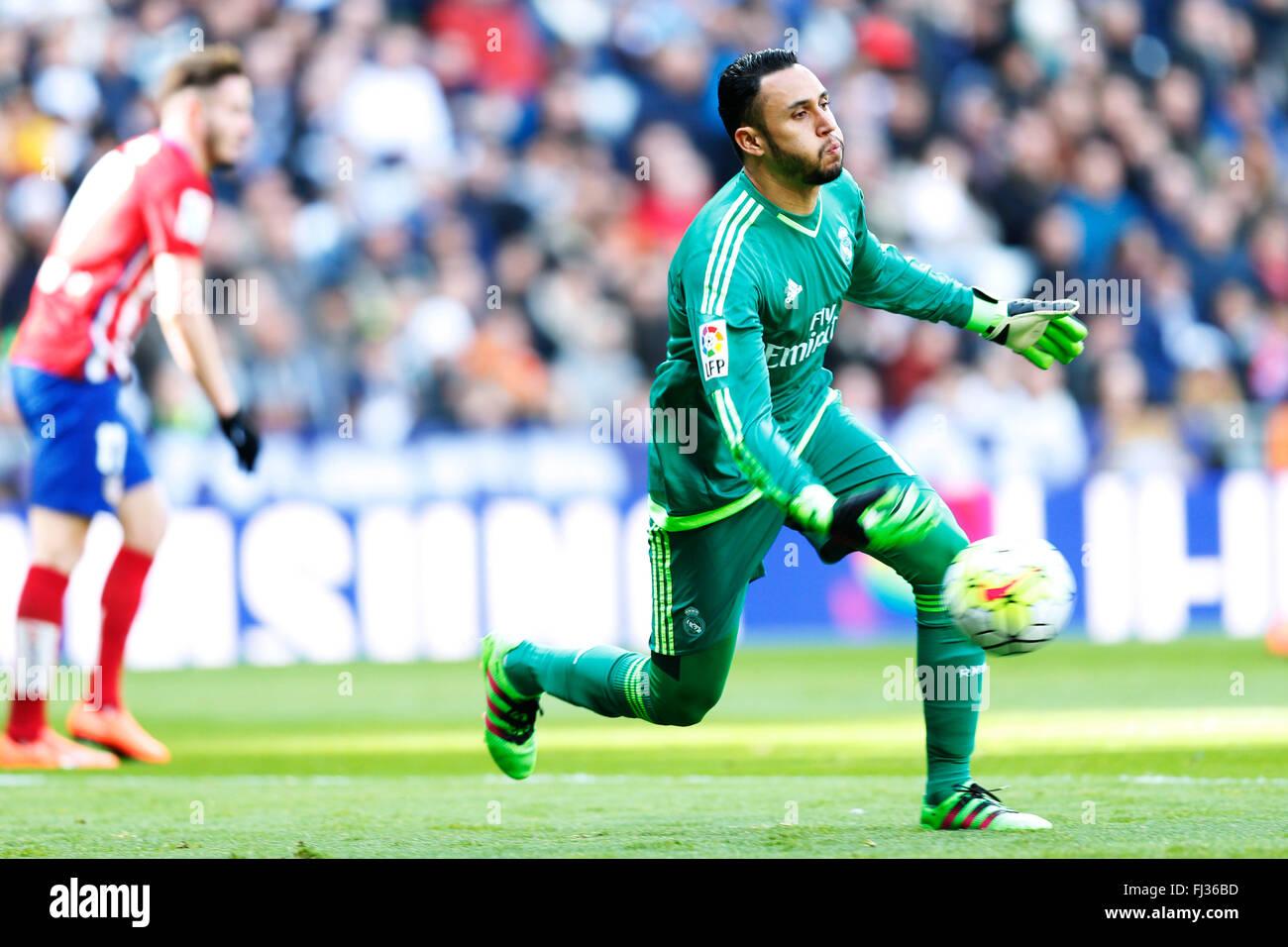 Keylor Navas Real FEBRUARY 27 2016 Football Soccer Spanish