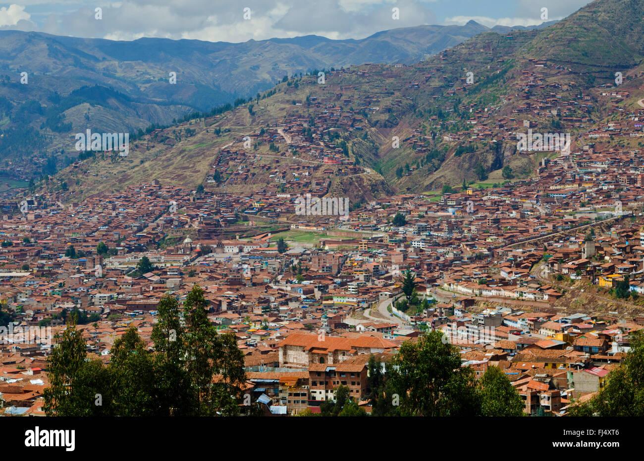 Mountain living near cusco peru royalty free stock photo - Aerial Of Cusco With Mountains Above City Peru Cuzco