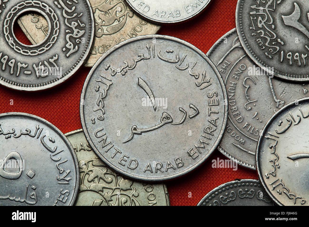 Arab emirates dirham coins stock photos arab emirates dirham uae one dirham coin stock image biocorpaavc