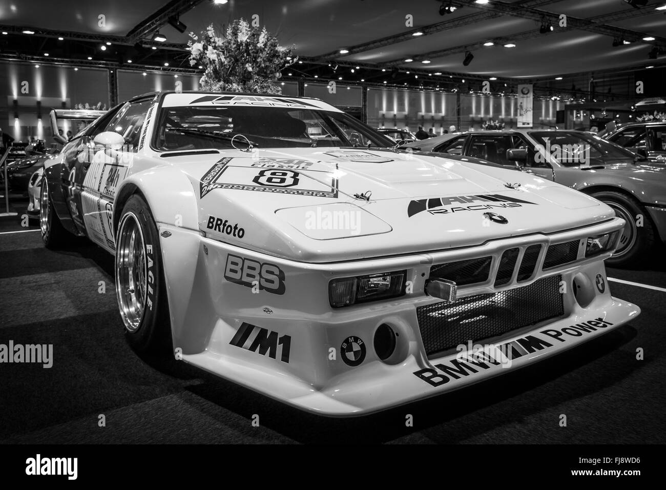 sports car bmw m1 procar racing version of the bmw m1 1980 black stock photo royalty free. Black Bedroom Furniture Sets. Home Design Ideas