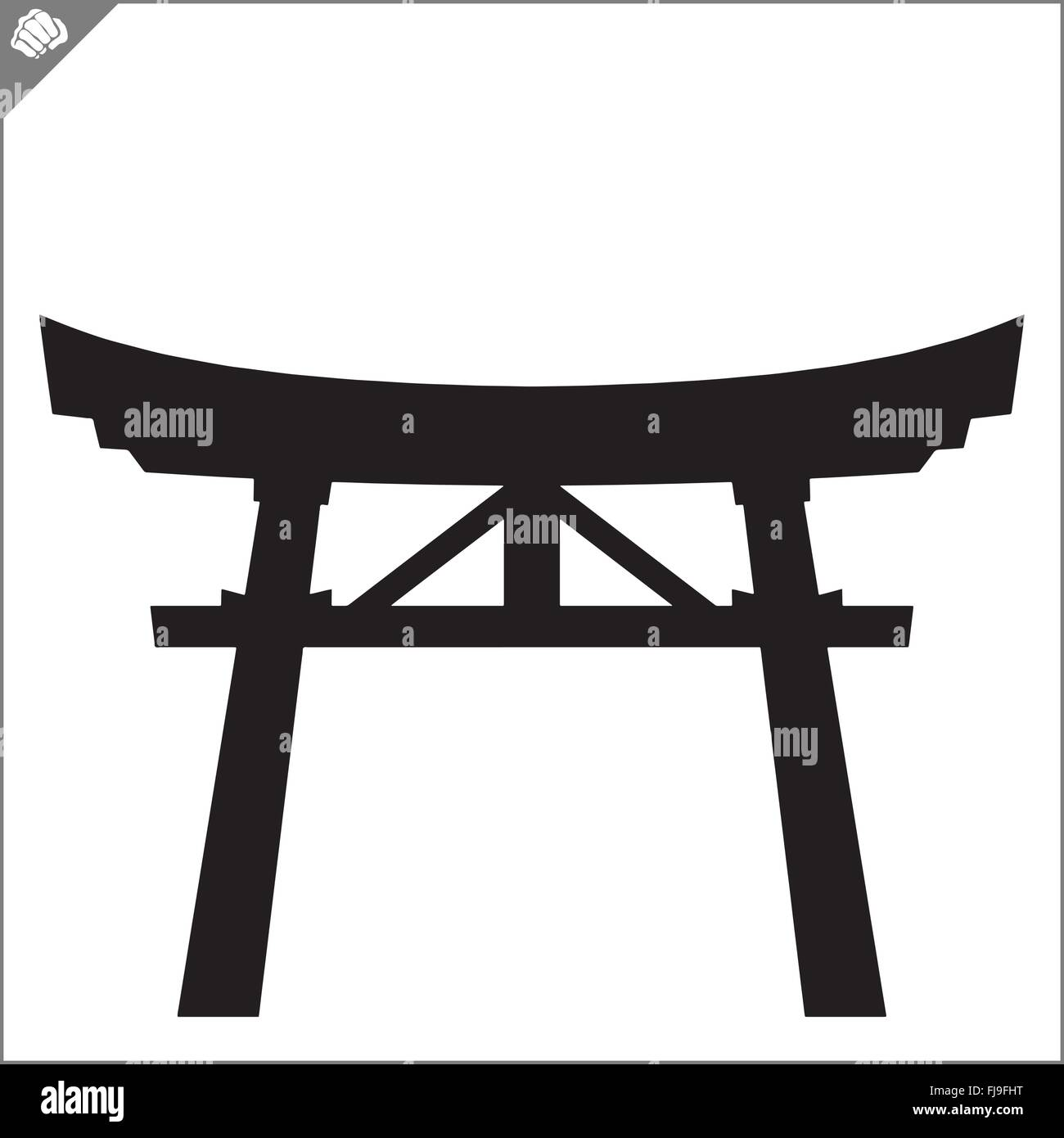 Japan traditional gate torii stock vector art illustration japan traditional gate torii biocorpaavc