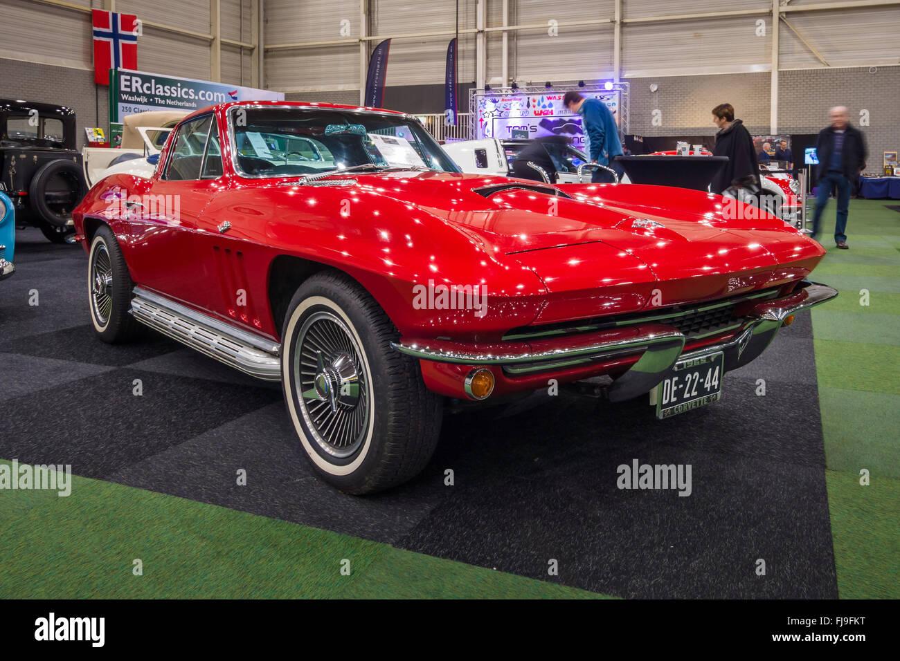 Sports car Chevrolet Corvette C2 Sting Ray 1965 Stock Photo