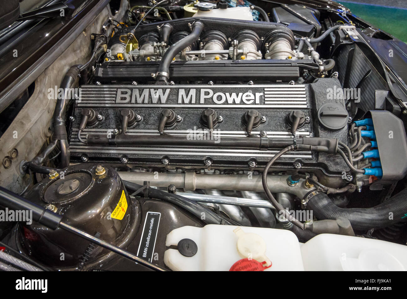 Engine M Power of BMW 3 Series E36 Closeup Stock Photo