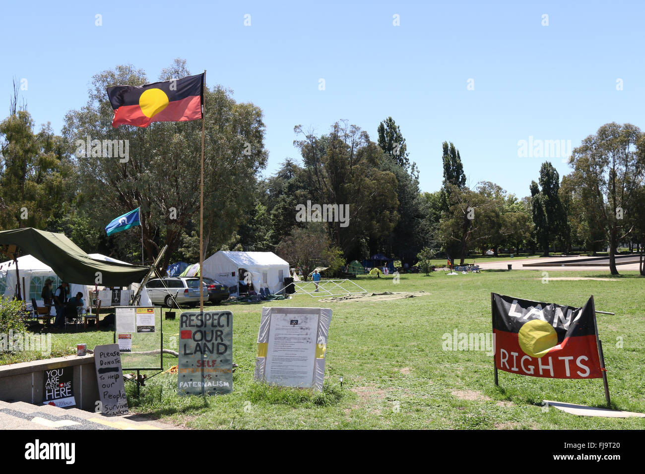 The Aboriginal Tent Embassy in Canberra Australia & The Aboriginal Tent Embassy in Canberra Australia Stock Photo ...