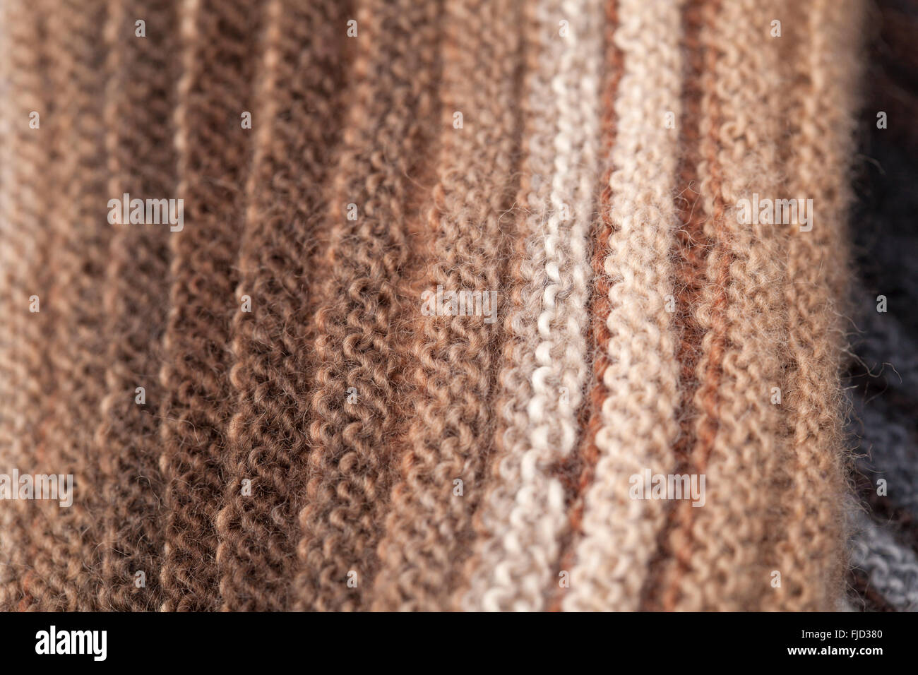 Knitting Ribbing With Two Colors : Two sided ribbed knitted scarf gradual color change craft stock