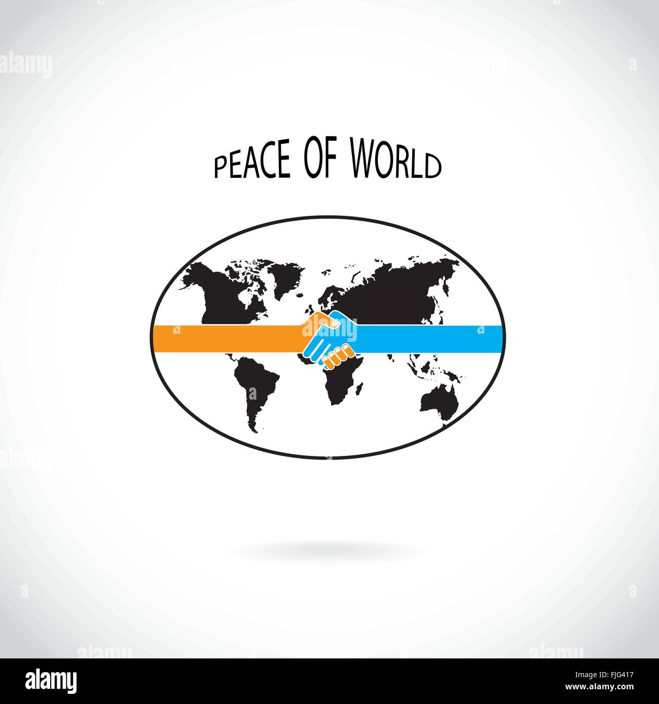Handshake abstract sign vector design template peace of world handshake abstract sign vector design template peace of world concept vector illustration biocorpaavc