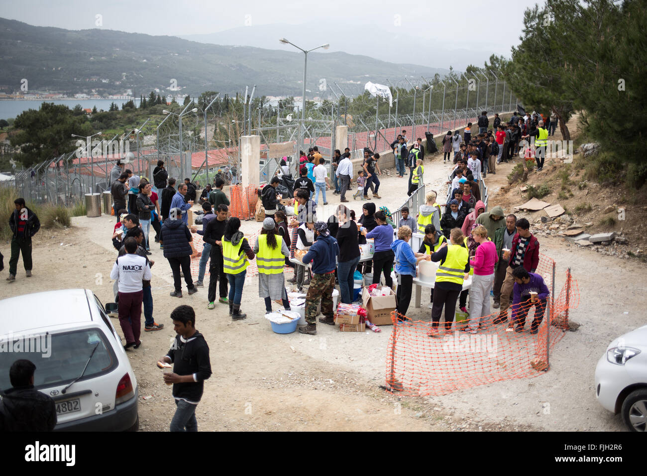 Image result for vathi greece refugees