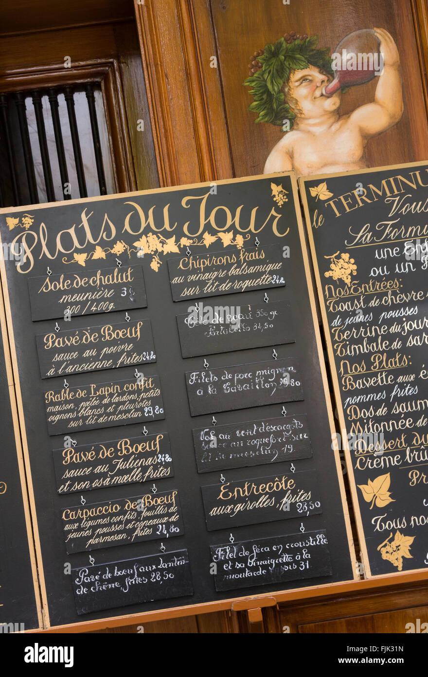 Restaurant Menu Paris France Dining Establishment Lists