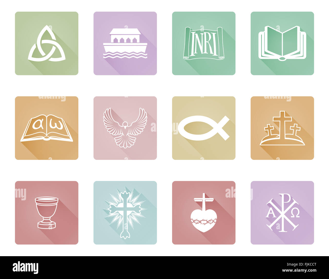 A set of christian icons and symbols including chi rho alpha a set of christian icons and symbols including chi rho alpha omega fish and cross buycottarizona