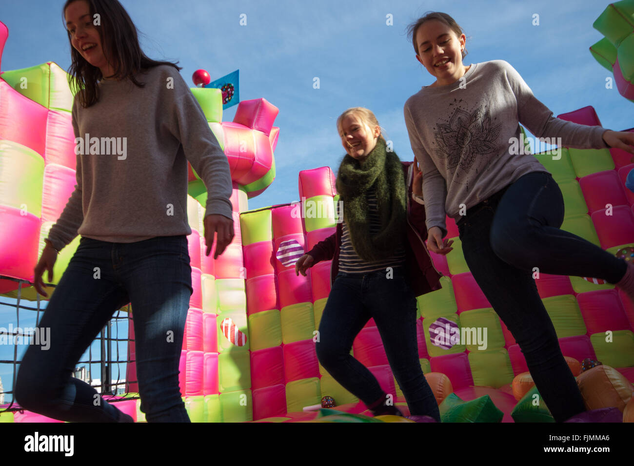 march 3rd 2016 a jelly themed adults only bouncy castle which has been created to celebrate the launch of candy crush jelly saga opens on londons - Multi Castle 2016