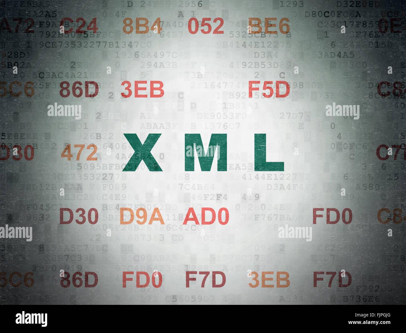 Background image xml - Software Concept Xml On Digital Paper Background