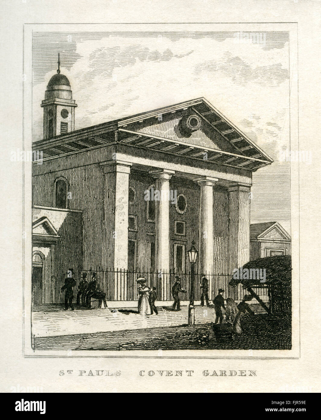 St Paul 39 S Church Covent Garden London 1835 Built In 1640 By Stock Photo 97624730 Alamy