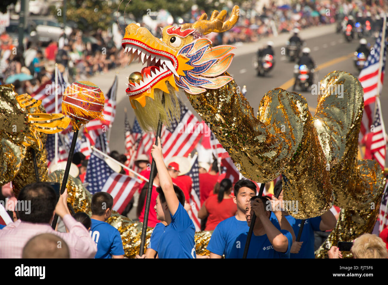 chinese new year procession celebrations in chinatown in downtown los angeles southern california united states of america - Chinese New Year Los Angeles
